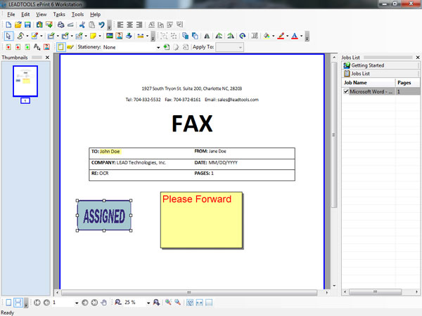 ePrint Workstation - Annotations Screenshot